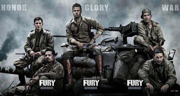 หนังสงคราม Fury วันปฐพีเดือด